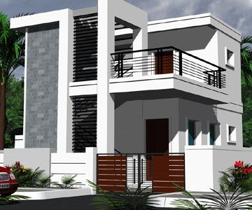 Independent Villa House styles pictures india