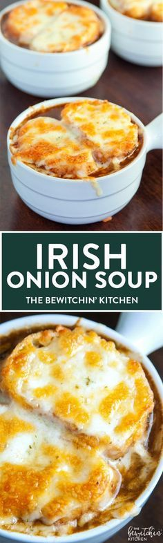 Irish Onion Soup - it's french onion soup with a whiskey twist. A delicious soup recipe that's perfect for fall and winter.