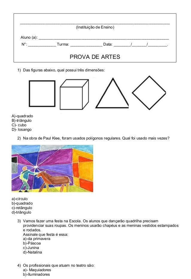 Instituicao De Com Imagens Atividades De Artes Visuais Arte