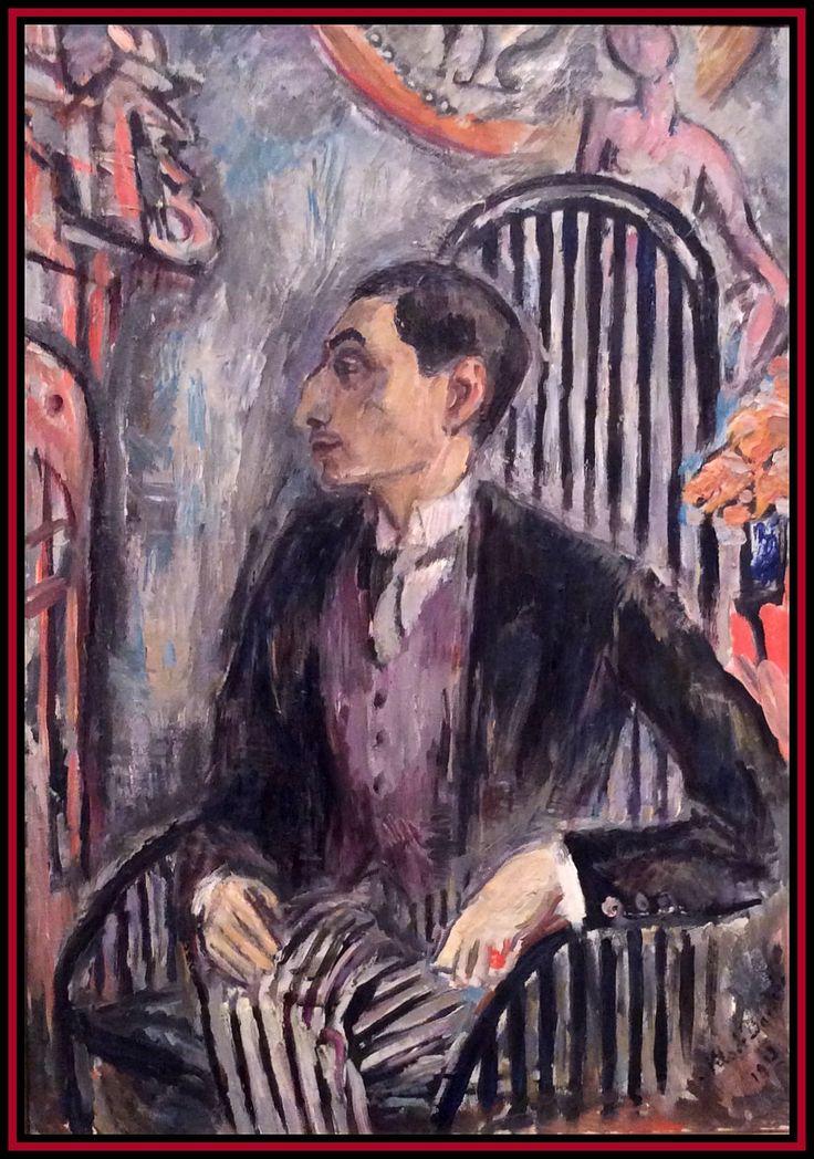 Portrait of a dandy by Swedish artist Nils de Dardel.
