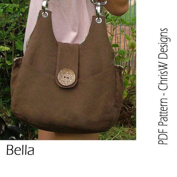 Instant Download Purse Pdf Pattern Handbag Sewing