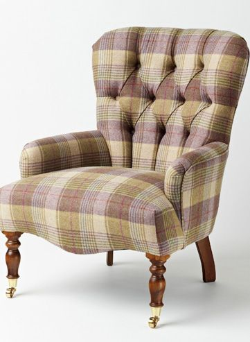 Fancy a chair covered with a Yorkshire made Tartan?http://www.petersilk.co.uk/section.php/104/1/chairs-sofas