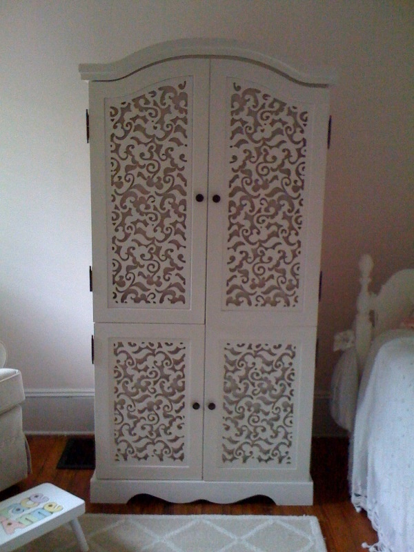 Gorgeous remake of a plain wardrobe using a CNC router