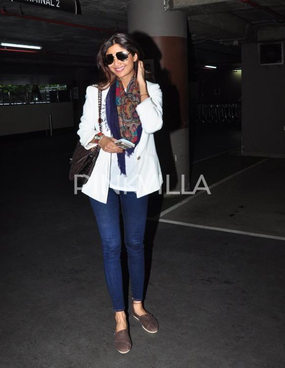 Shilpa Shetty Kundra & Randeep Hooda Clicked at the Airport | PINKVILLA