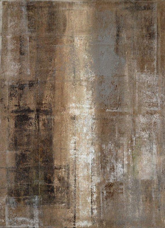 Delgado, 2013 - Original acrílico arte moderno abstracto pintura plazas pared decorativos envío gratis lienzo blanco negro marrón gris 18 x 24