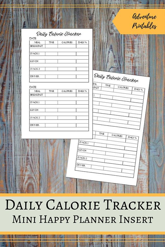 """Daily Calorie Tracker Printable Insert for the Mini Happy Planner, Meal Planner Insert, Food Log, Weight Loss Planner, Mambi, Create 365  ▶WHAT IS INCLUDED  Calorie Tracker Insert design - 1 PDF File Calorie Tracker Insert design - 2 JPG files Calorie TrackerInsert for prinintg on A4 - 1 PDF File Calorie TrackerInsert for printing on A4 - 1 JPG File Calorie TrackerInsert for prinintg on Letter Size - 1 PDF File  ▶ SIZE:  Mini Happy Planner: The design 4.5"""" x 7"""" (11.4 x 17.75 cm) For…"""