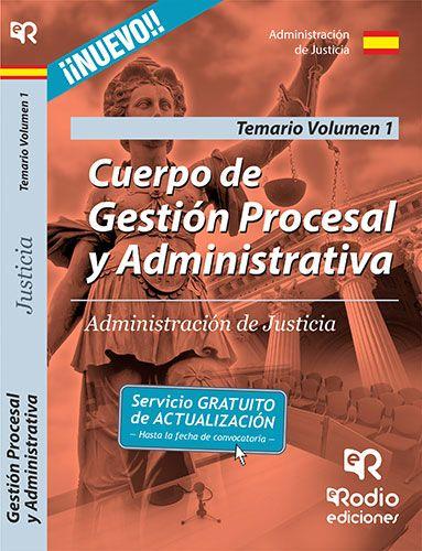 9788416266821 Cuerpo de Gestión Procesal y Administrativa de la Administración de Justicia. Volumen 1 #empleo #oposiciones #justicia