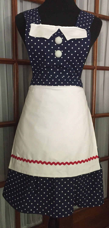 Snow white apron etsy - I Love Lucy Inspired Apron Lucy Apron 50s Retro Apron Polka Dot Apron