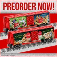 Uncatalogued  Lionel Boxcars- Preorder Today - https://www.legacystation.com/blog/uncatalogued-lionel-boxcars-preorder-today/ - New Coke Boxcars, 4 new Harry Potter Boxcars, Bambi, Caddyshack, & Jungle Book Boxcars-  Preorder Today.  MADE in USA This summer we are offering great licensed boxcars that are Made in the USA and are sure to be very popular with train and movie lovers of all ages Uncatalogued Coke Boxcars   - Legacy Station Whistles