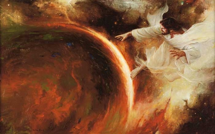 Christ as creator of the world. Walter Rane