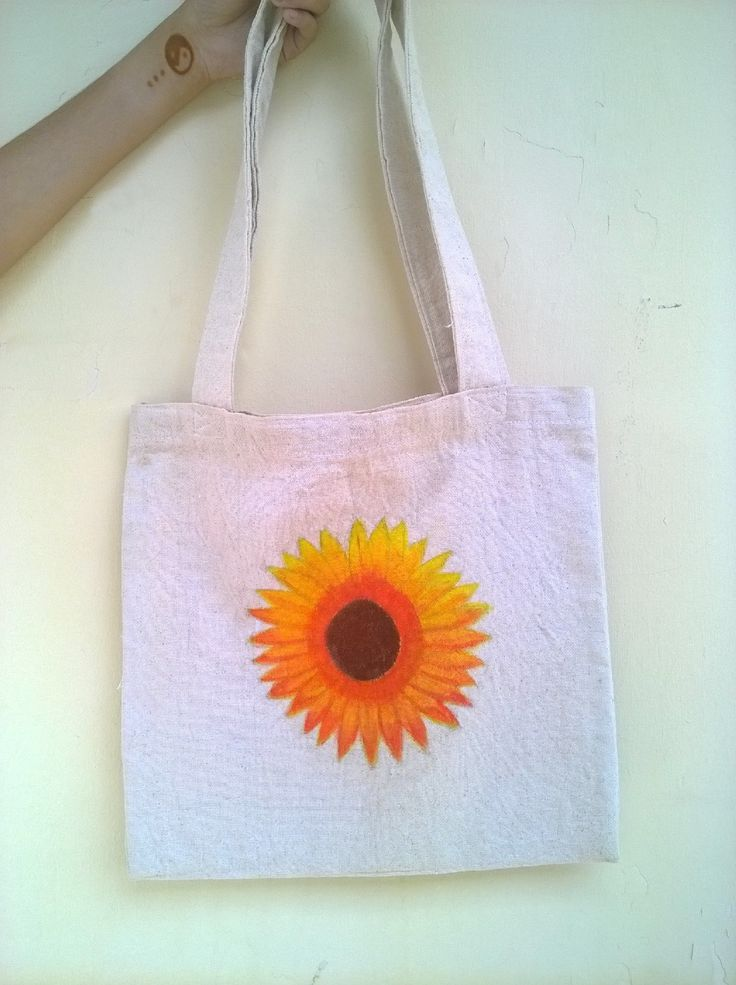 instagram : @nstyle_bdg #nstyle #style #totebag #tote #canvas #acrylic #painting #sunflower #woman #girls #fashion #handmade #handcraft