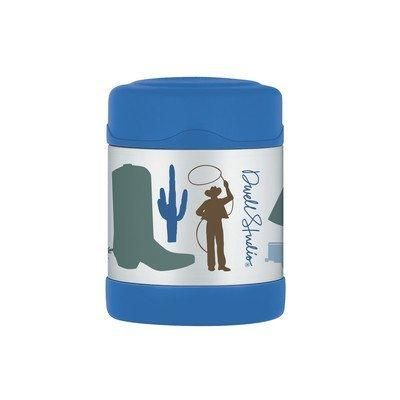 Thermos DwellStudio for Thermos Vacuum Insulated Stainless Steel Funtainer Food Jar Cowboy 10 Ounce