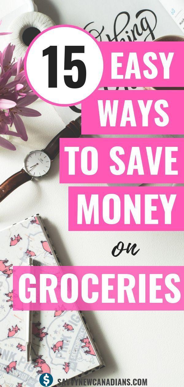 Sehen Sie sich diese 15 einfachen Möglichkeiten an, um beim täglichen Einkauf von Lebensmitteln Geld zu sparen. Sa …   – Frugal Living