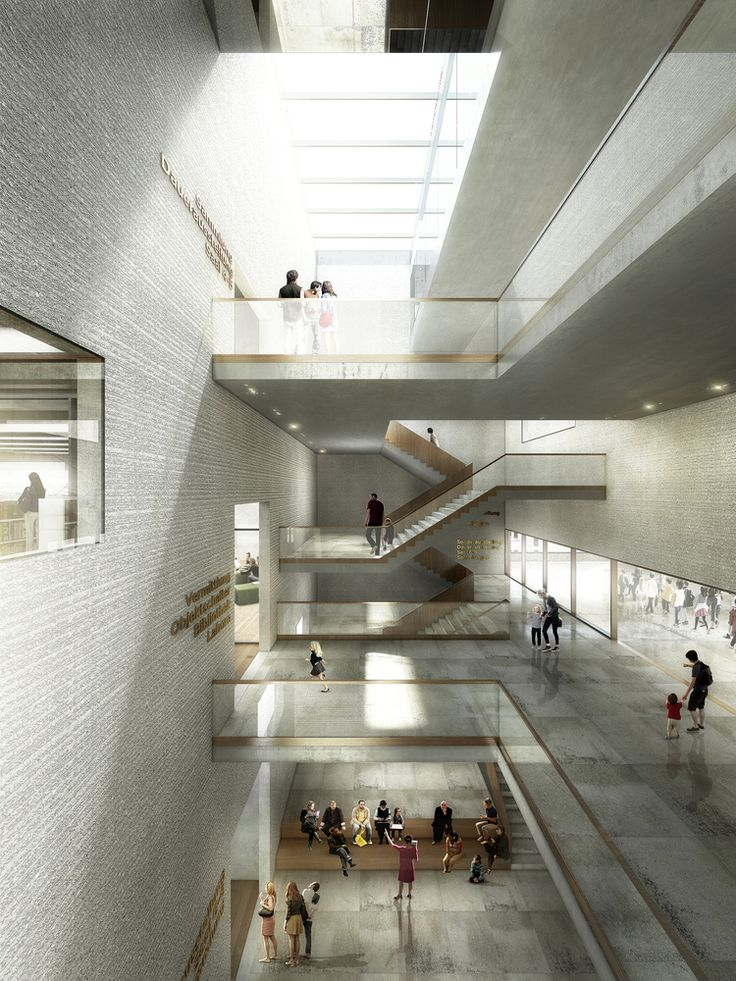 EM2N to Build Basel's New Museum of Natural History and State Archives,Staircase hall Museum of Natural History Basel. Image © Luxigon