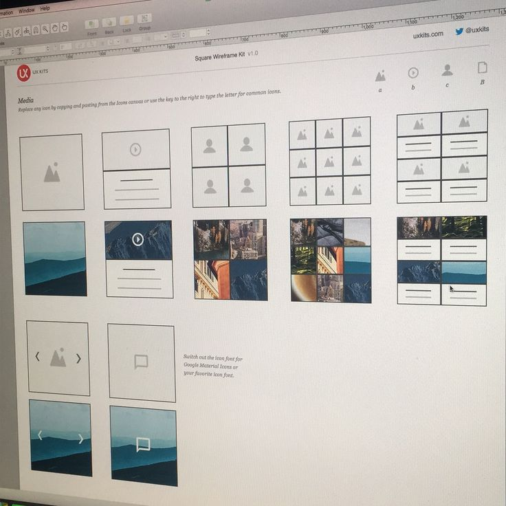 Making good progress on Square Wireframe Kit for #omnigraffle. Interesting to figure out the best methods to stretch elements, text and images in the app to maintain the Kit's flexibility.  #ux #uxdesign #webdesign #wireframe