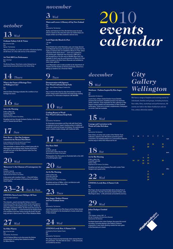 """calendar of events"" design - Google Search"