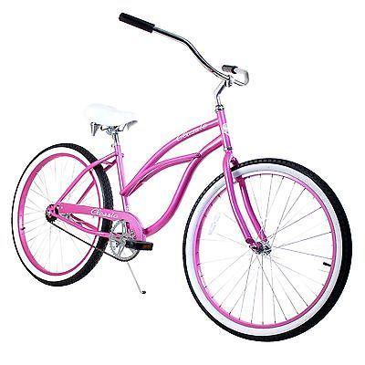 26 Women Beach Cruiser Bicycle Bike Classic Mint Green1  Type - Cruiser, Gender - Women, Wheel Size - 26, Color - Pink, Frame Material - Steel, Brake Type - Coaster,