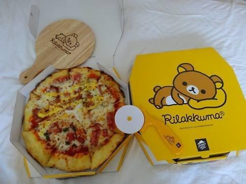 Rilakkuma pizza! ^o^