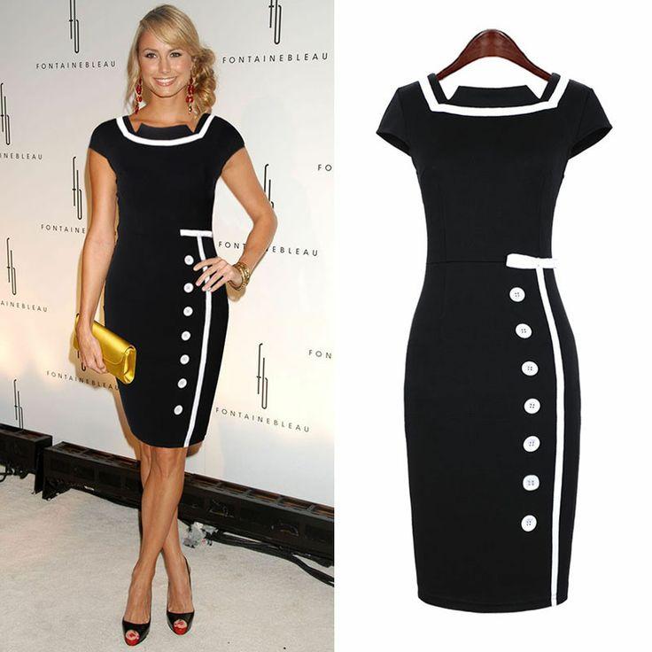 Miusol 2013 new arrival fashion elegant vintage patchwork color block one-piece dress single breasted short skirt plus size