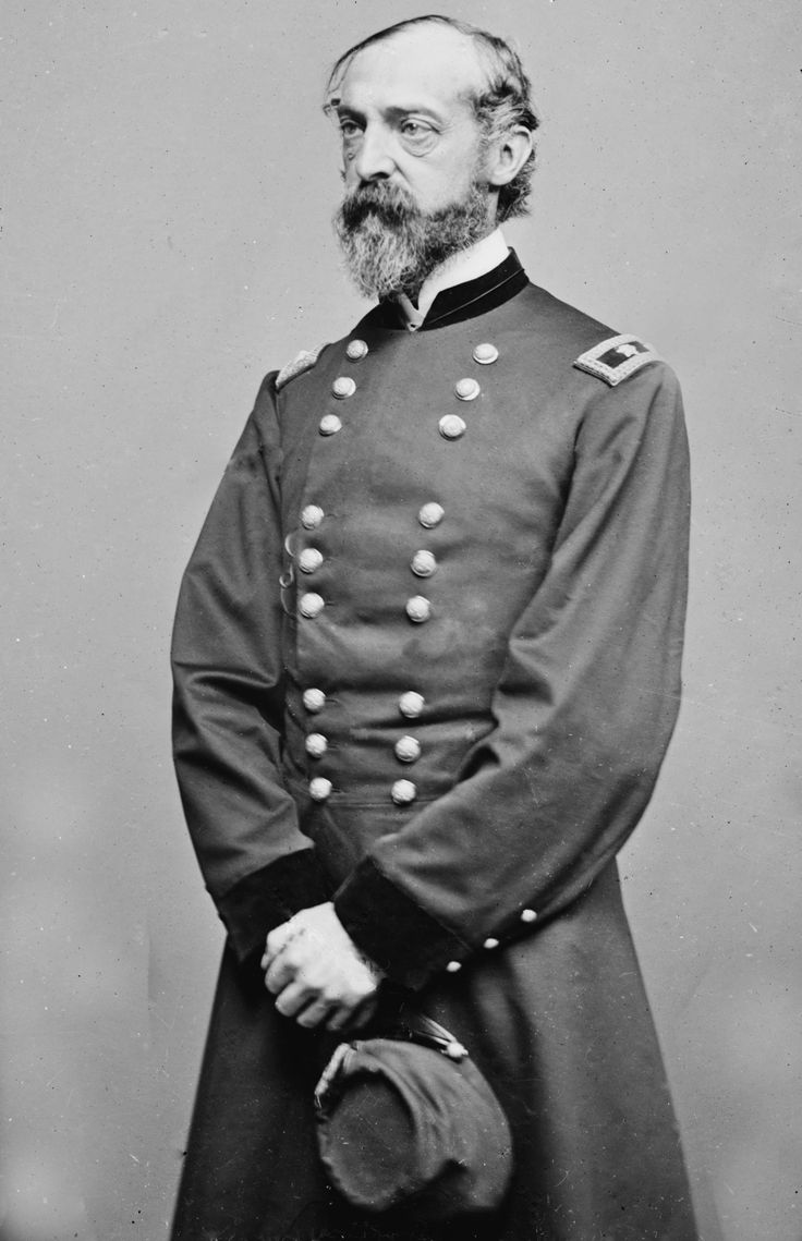 Gen. George Gordon Meade is best known for defeating the Confederates at the Battle of Gettysburg (1863). Meade, a civil engineer by training, was involved in coastal construction, including several lighthouses. He fought with distinction in the Second Seminole War and Mexican-American War. During the American Civil War he served as a Union general, rising from command of a brigade to the Army of the Potomac. He died of complications of old wounds on Nov 6, 1872.