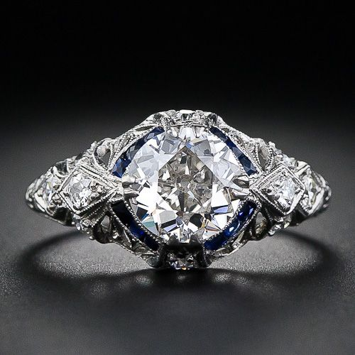 1.05 Carat Diamond Art Deco Engagement Ring