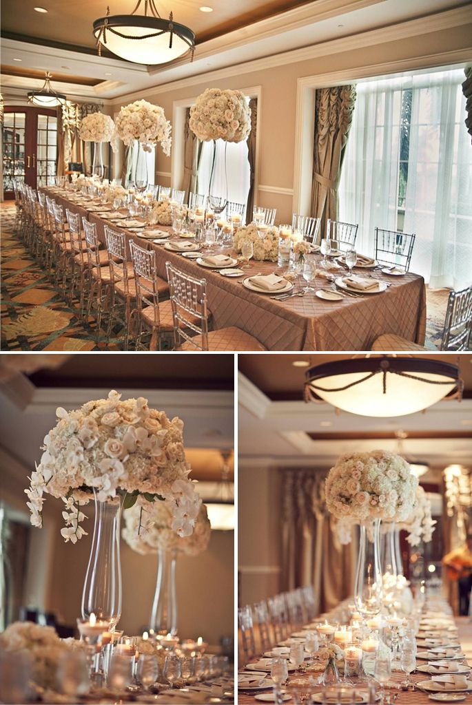 cream and beige wedding- I'm not a big fan of a bright color scheme, this is perfect!
