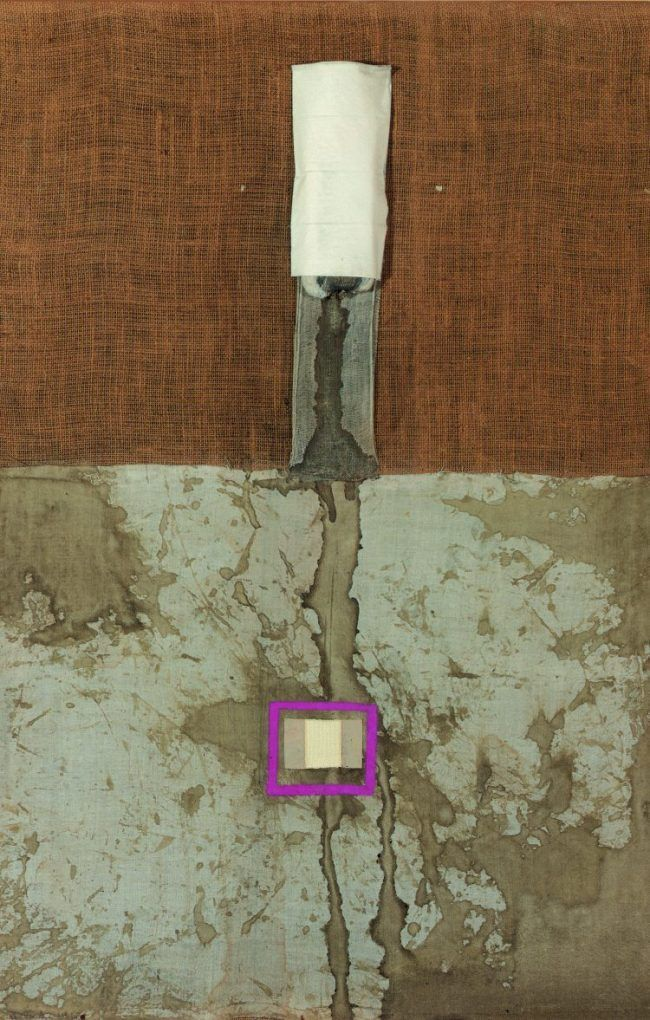 Hermann Nitsch Menstruationsbindenbild Mischtechniken Auf Leinwand Kunst Konkrete Kunst