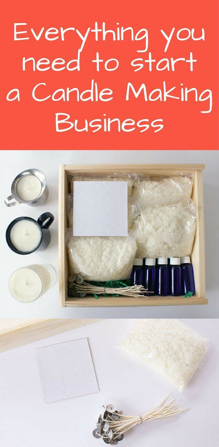 Start a candle making business using this DIY candle making kit. This kit comes with EVERYTHING you could need to start making candles. #soapmakingbusinessplan