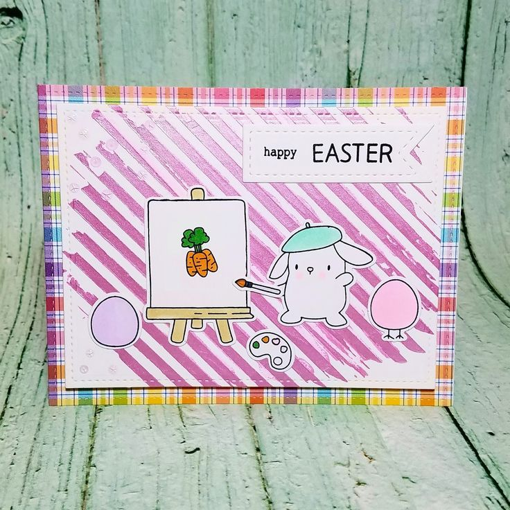 Corilyn's Creations: Artsy bunny #mamaelephant #simonsaysstamp #lawnfawn #prettypinkposh