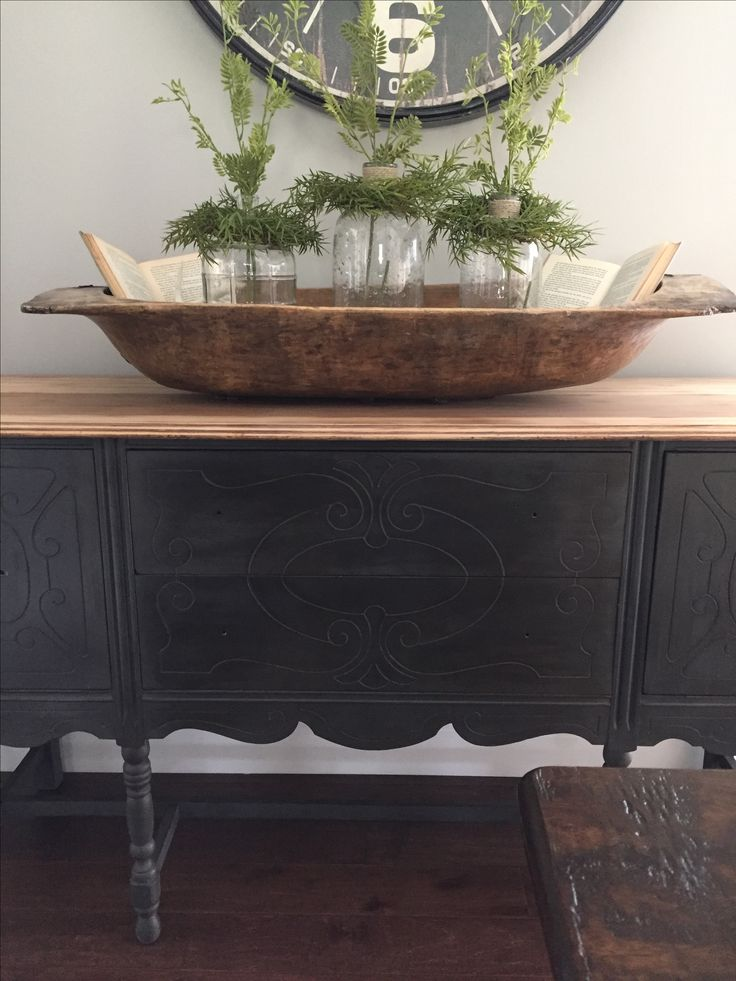 Charcoal Chalk Paint With Clear And Dark Wax Decor