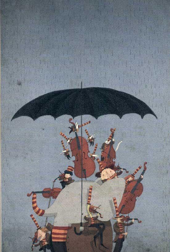 "David Pintor illustration for ""Almanaque Musical""."