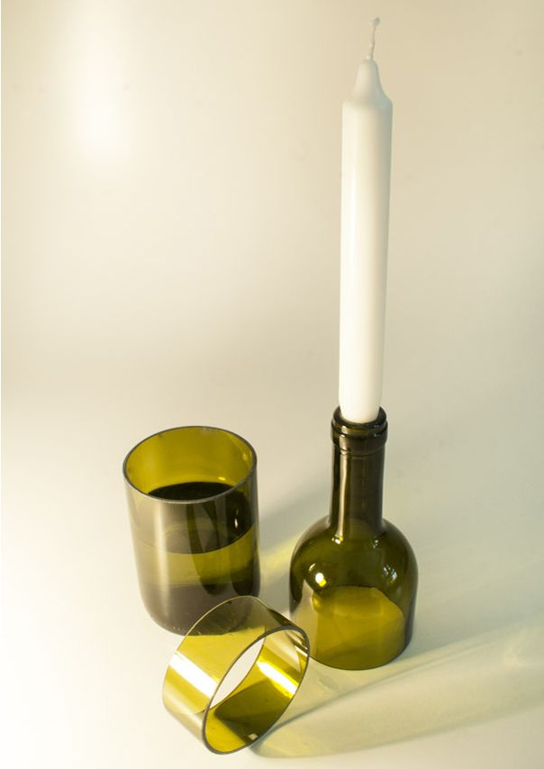 Glass and candlestick