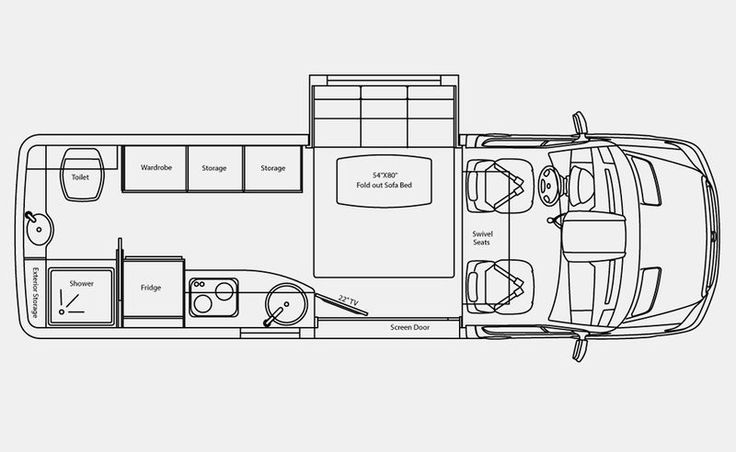type b rv floor plan