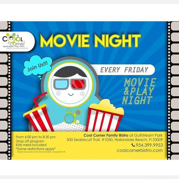 Every friday is #MovieNight in #CoolCornerBistro