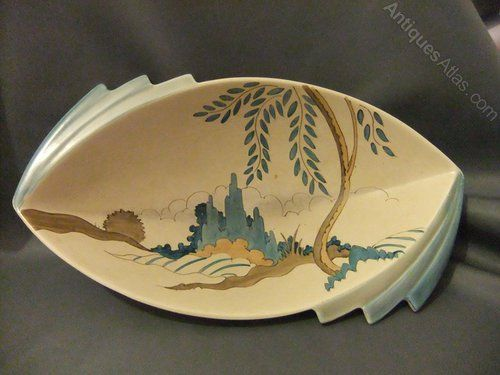 Antique Clarice Cliff Bowl A shape 475 Daffodil bowl Circa 1936