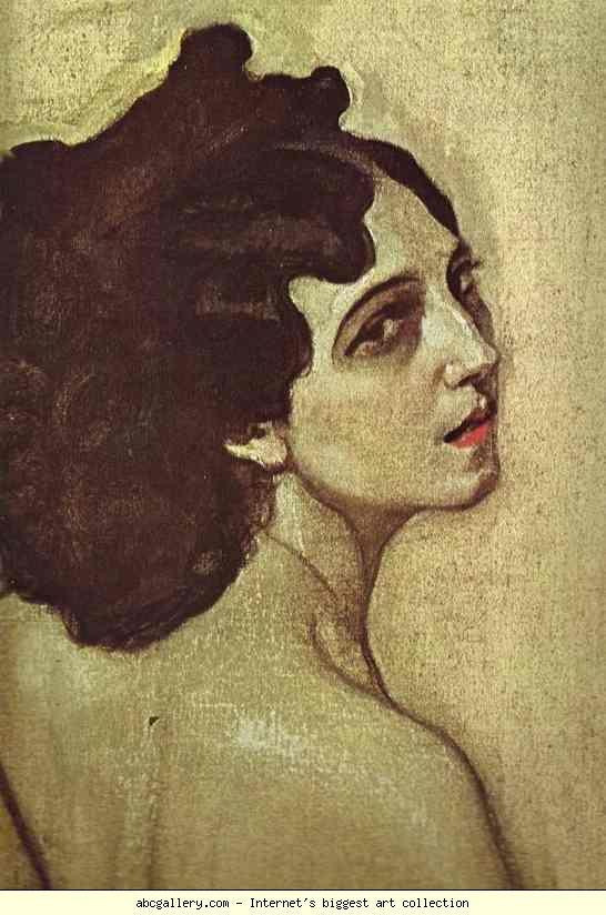 valentin serov portrait of ida rubenstein detail