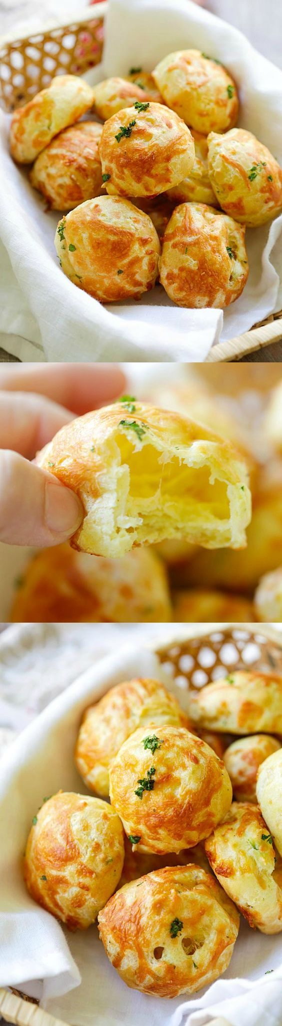 Cheese Puffs (Gougeres) - best and easiest recipe for puffy light and airy French cheese puffs. Loaded with mozzarella and parmesan cheese so good  rasamalaysia.com