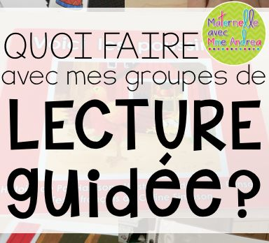 What my guided reading block looks like | lecture guidée | maternelle