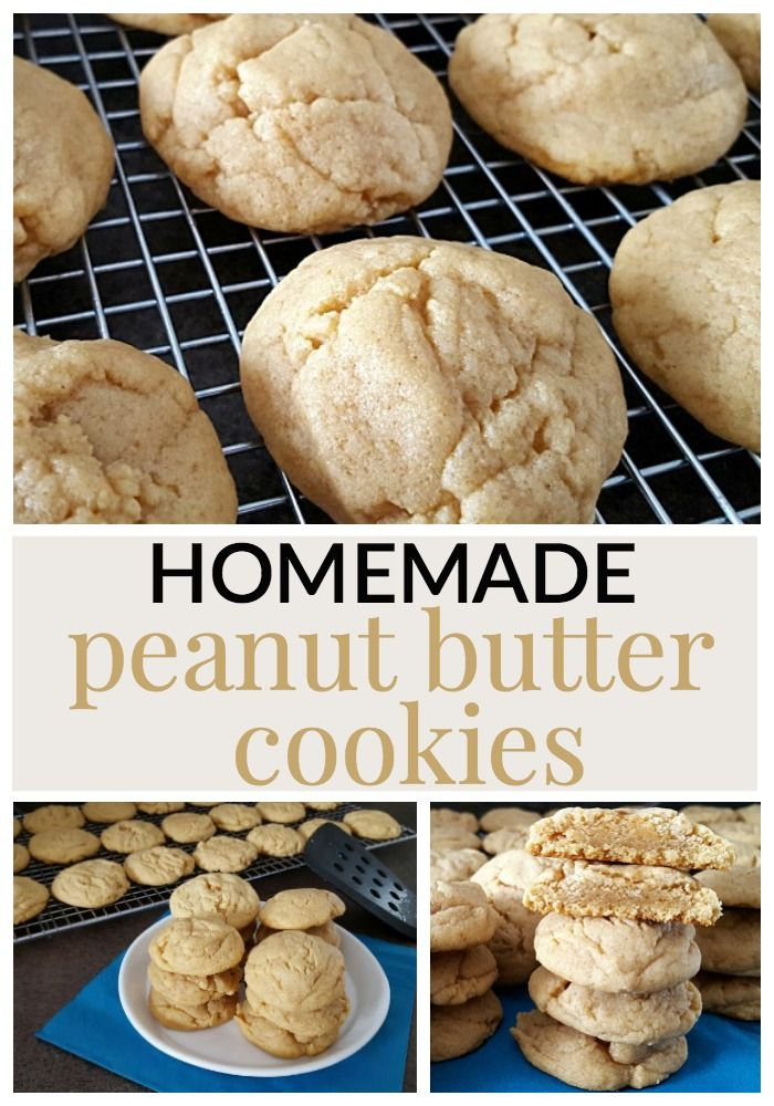 This homemade peanut butter cookie recipe gives a cookie that lightly crisp outside, and oh so soft and chewy inside!  These rich and delightful peanut buttery cookies will have you coming back for more!