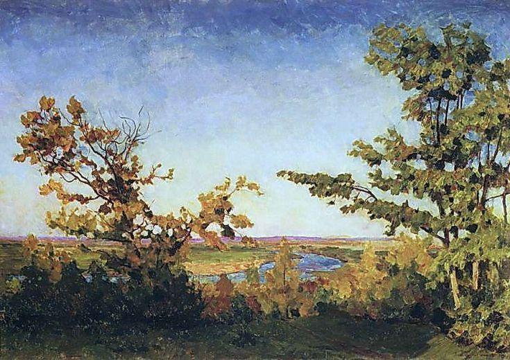 1923 Ясный осенний вечер. Х.,м. 98x141 ГТГ - Грабарь Игорь Эммануилович