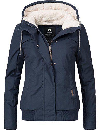 bf1d68762c2c6d Ragwear Damen Jacke Winterjacke Ewok (vegan hergestellt) All Navy Gr ...