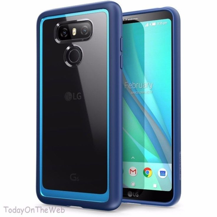 LG G6 i-Blason Clear [Halo Series] Shock Absorbing Bumper Blue Case  | eBay