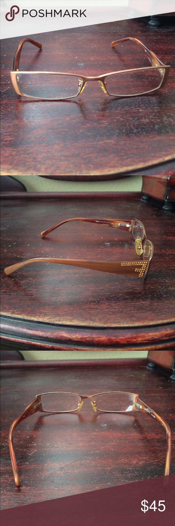 Women's Copper Fendi Glasses - Frames Used prescription frames. Copper in color with sparkle very small stones on sides. Slight wear & scratches Fendi Accessories Glasses