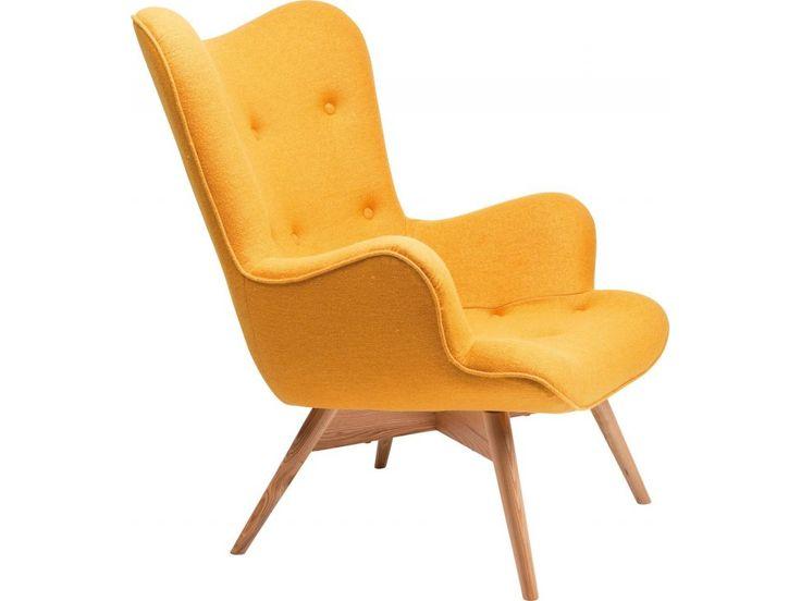 Fotel Angels Wings żółty wełna — Fotele Kare Design — sfmeble.pl