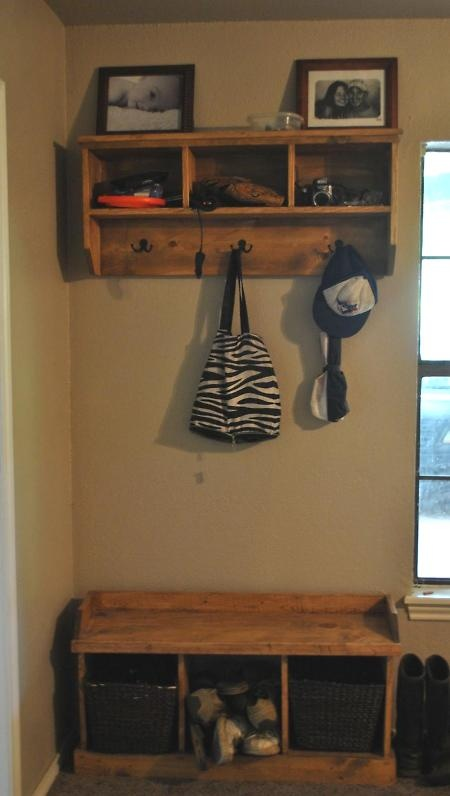 Entryway Shelf And Bench Make This Shelf Diy For