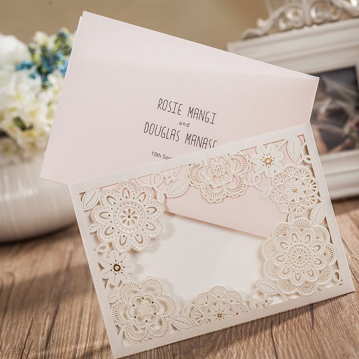 9 best Wedding invitations Lace Floral invites with RSVP response ...