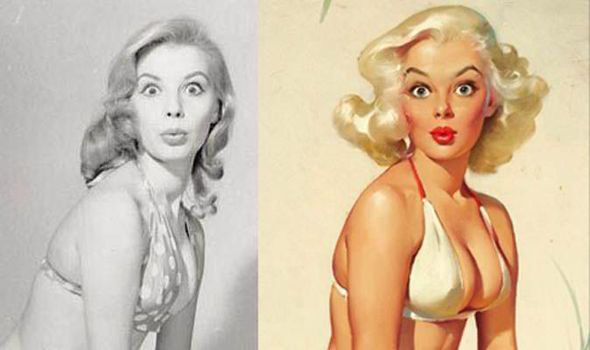 THE model photographs that inspired artist Gil Elvgren to paint his famous Fifties pin-up pictures of women with hourglass figures, innocent expressions and clothing in artful disarray...