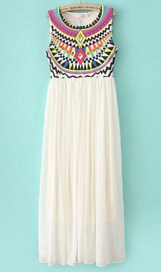 Colourful plaid vest dress X967 White