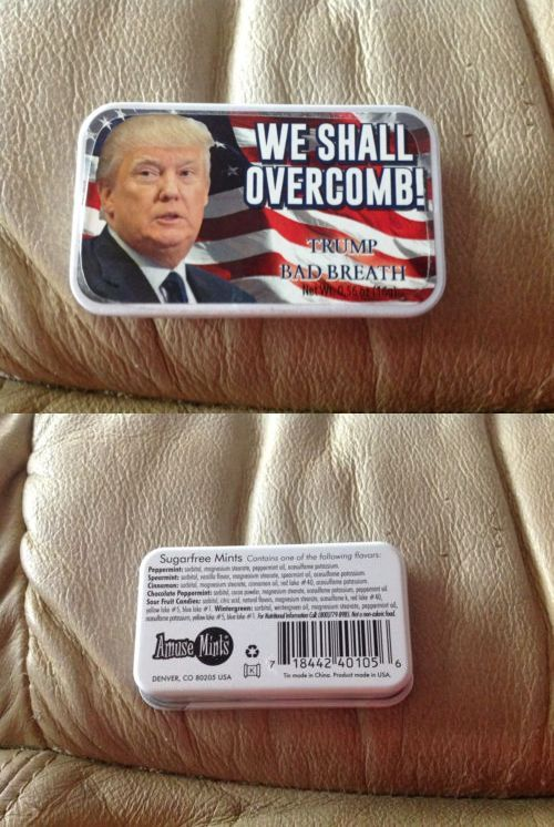 Mints 115717: 2017 Presidential Inauguration Donald Trump Breath Mints New We Shall Over Comb! -> BUY IT NOW ONLY: $50 on eBay!