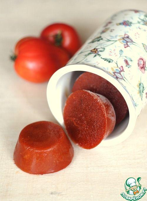 Быстрое томатное пюре, заморозка - кулинарный рецепт